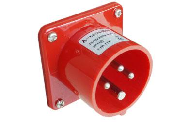 供应工业插座插头16A4芯暗装插头.电源插头插座