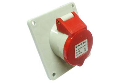 供应工业插座插头16A4芯暗装斜式插座.电源防水连接器图片