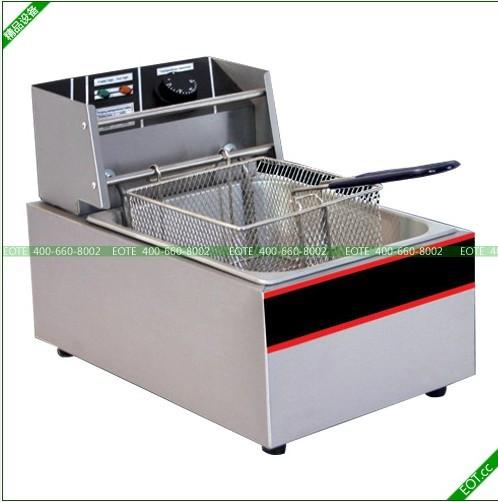 炸薯条机器快餐厨房设备北京炸薯条机器大型炸丸子机图片
