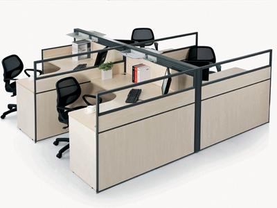 客厅屏风隔断 隔断式办公桌 办公室屏风效果图