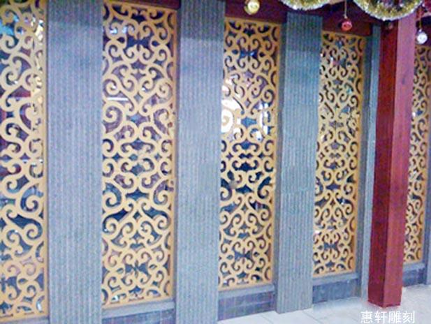 供应室内装饰花格屏风木雕
