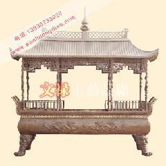 供应铜雕香炉,铸铜香炉,铜香炉,宝塔,寺庙香炉