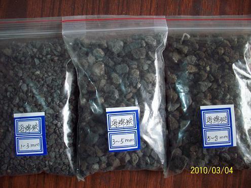 供应河北邢台海绵铁滤料多用途品种多图片
