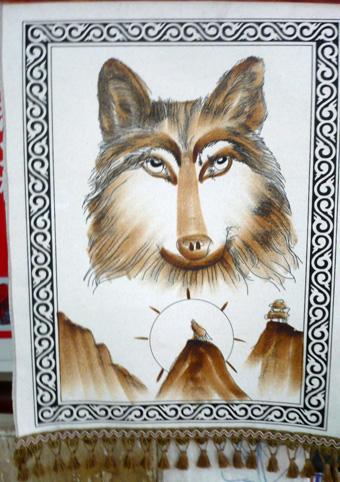 供应新疆民族羊毛画