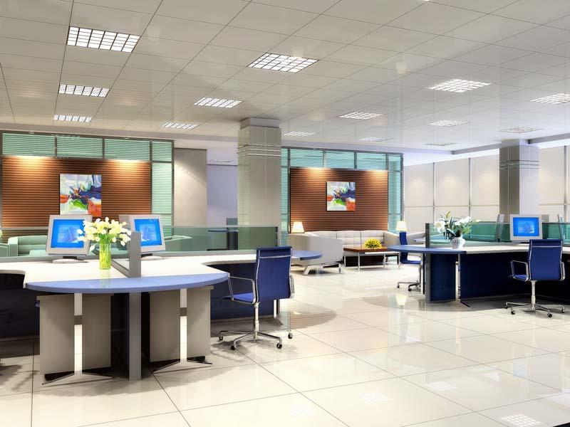 办公室装修图片 办公室装修样板图 办公室装修 郑州实创装饰
