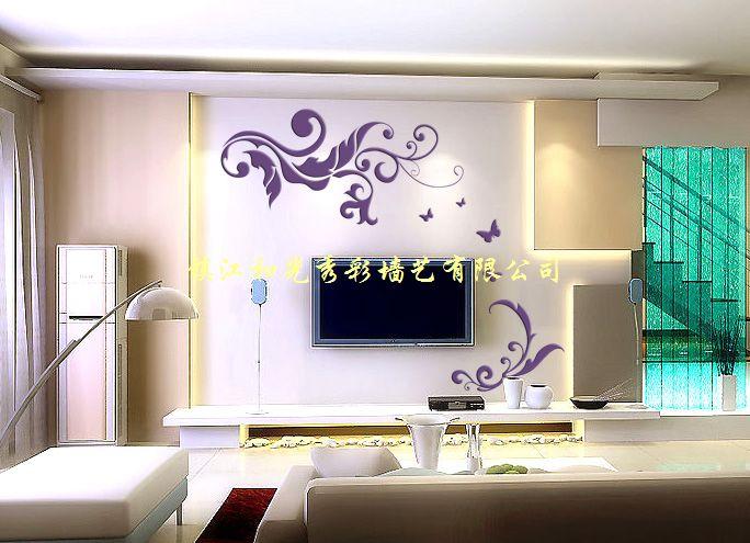 客厅背景墙彩漆墙
