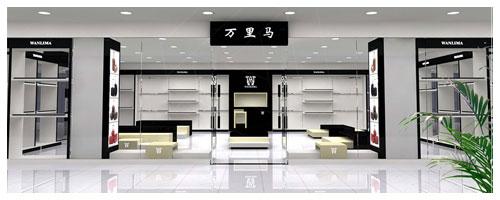 供应皮具店面装修设计/箱包展柜订做厂,深圳展柜制作工厂