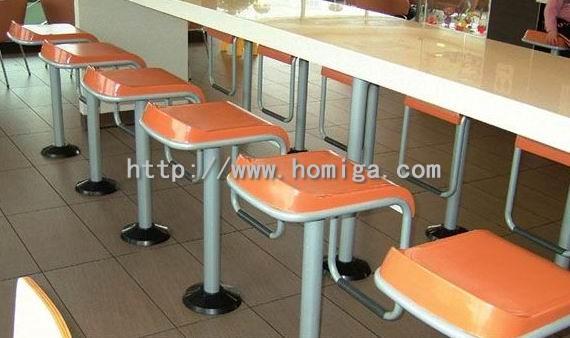 供应麦当劳肯德基餐厅吧椅吧台,广东连锁餐厅吧椅吧凳吧台工厂价批发