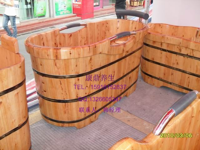供应香柏木泡澡桶出口/桑拿木桶