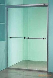 玻璃淋浴房图片 玻璃淋浴房样板图 平移简易钢化玻璃淋浴高清图片