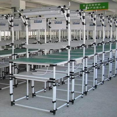供应深圳广州柔性管周转车工作台防静电龙华线棒工作台布吉图片