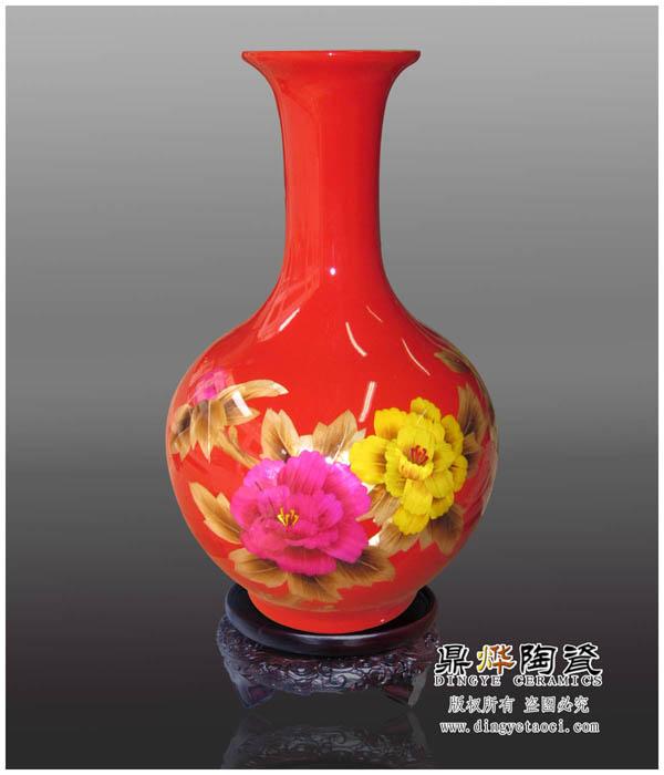 陶瓷花瓶图片 陶瓷花瓶样板图 麦秆画陶瓷花瓶瓷花万年红...