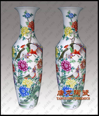 景德镇陶瓷粉彩花瓶批发定制酒供应图片/景德镇陶瓷粉彩花瓶批发定制酒供应样板图