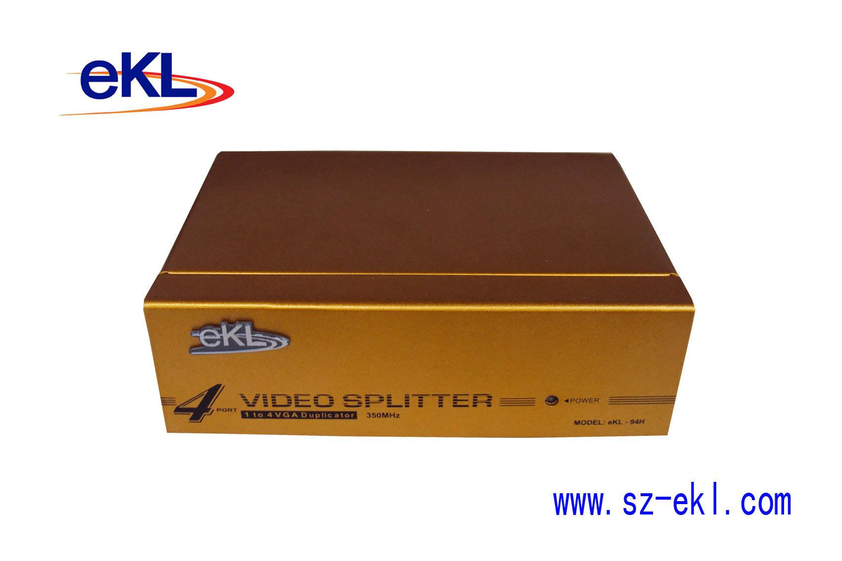 ...分配器图片简述:VGA分配器四口可以将一台主机的信号分配给4...