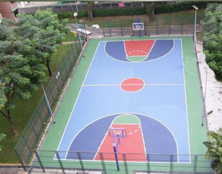 青岛海润佳塑胶铺装工程有限公司生产供应塑胶篮球场青岛塑胶篮球场