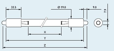 供应飞利浦TUV36 T5 SP 40W单端单针杀菌灯管