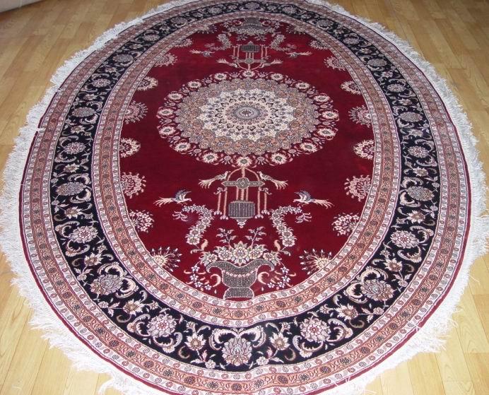 圆形手工打结地毯波斯风格图片
