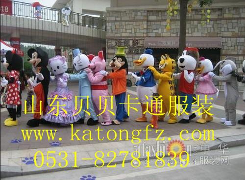 供应山东济南青岛哪有演出服装租赁或卖北京上海杭州南京卡通人偶服装图片