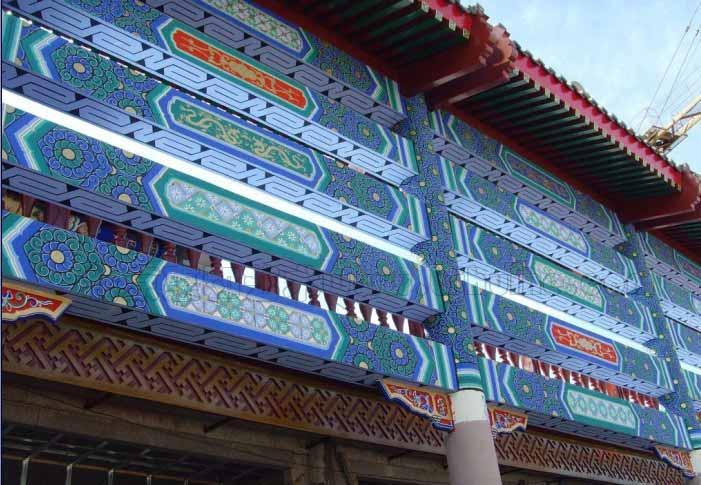 北京古建彩绘四合院寺庙彩绘产品描述:   我公司专业手绘各种幼儿园