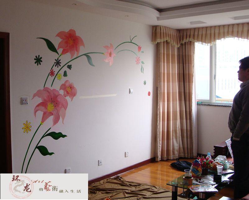 供应苏州液体壁纸手绘墙硅藻泥