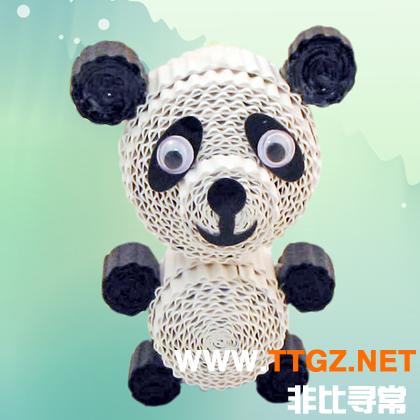 生产供应国宝小熊猫纸公仔