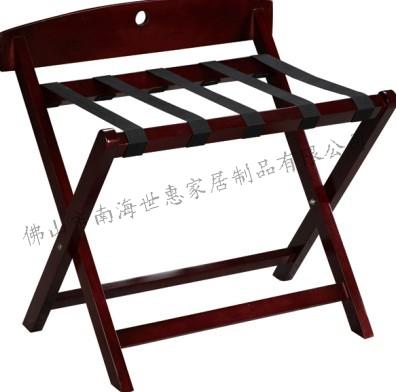 供应M-2酒店行李架红木行李架置物架