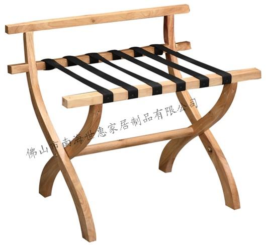 供应M-1全实木行李架置物架酒店行李架