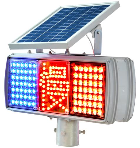 供应太阳能爆闪慢字灯/红蓝爆闪灯/警示灯/交通设施/施工灯