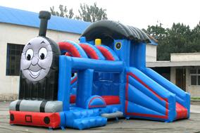 供应小型室内充气滑梯蹦蹦床玩具定做正品夜市赚钱城堡带滑梯多少钱图片