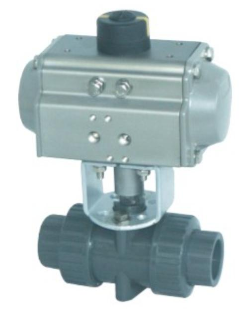 Q661F气动塑料球阀图片/Q661F气动塑料球阀样板图