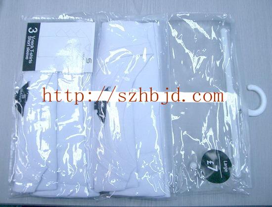 供应PVC挂钩袋深圳胶袋厂