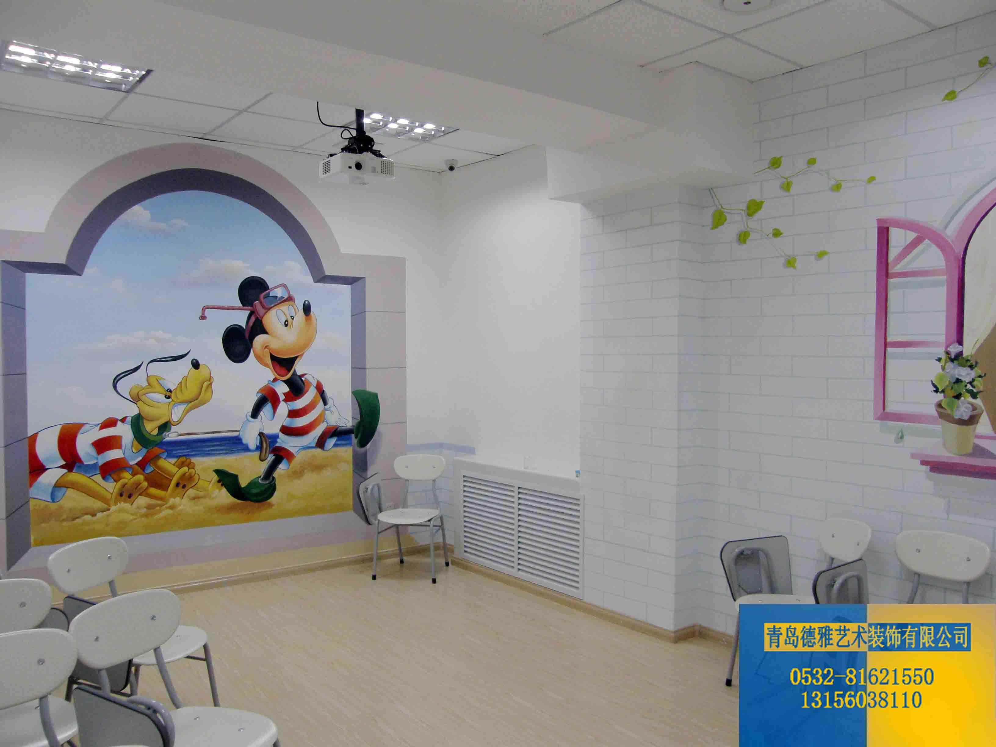 供应青岛专业幼儿园彩绘--青岛德雅彩绘有限公司青岛幼儿园彩绘
