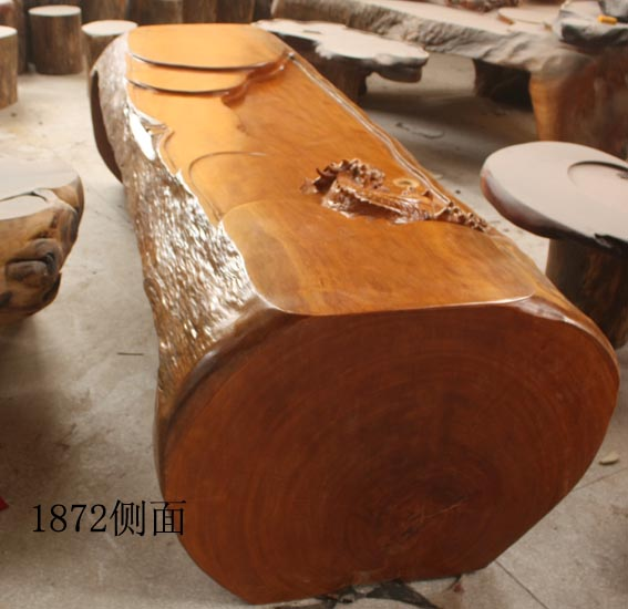 茶桌_茶桌供货商_供应黄檀木整体雕龙茶桌